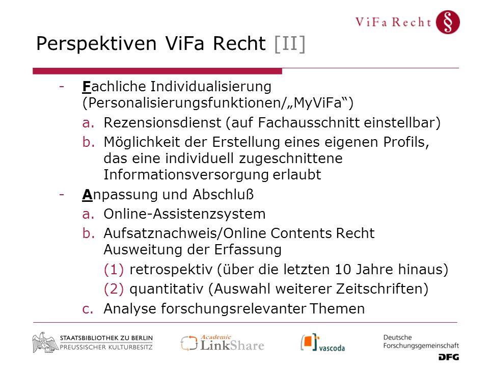 Perspektiven ViFa Recht [II]